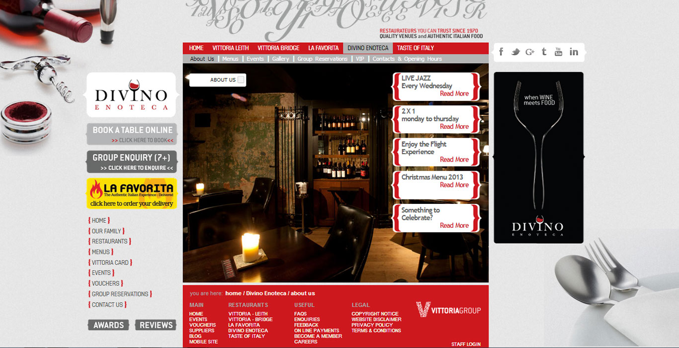 Vittoria Group Website – Scotland