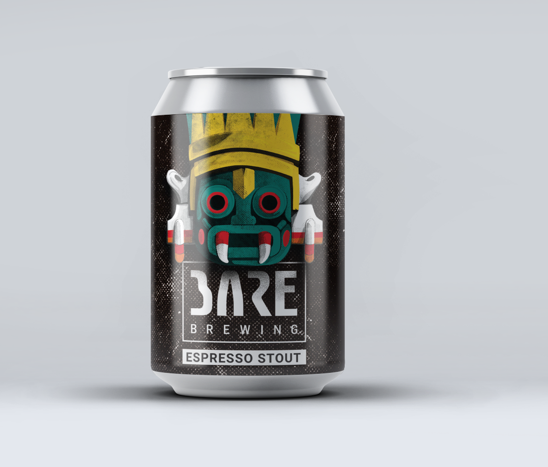Espresso Stout Label for Bare Brewery – Luxembourg